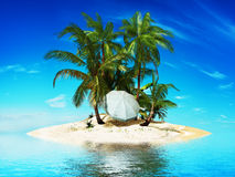 Private island Stock Photography