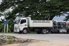 Private Isuzu Dump Truck. Chiangmai, Thailand - July 9 2019: Private Isuzu Dump Truck. On road no.1001 8 km from Chiangmai Business Area stock image