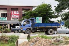 Private Isuzu Dump Truck. Chiangmai, Thailand - July 9 2019: Private Isuzu Dump Truck. On road no.1001 8 km from Chiangmai Business Area stock images