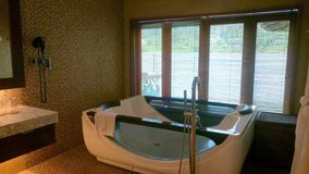 A private jacuzzi room for guest facilities. stock photo