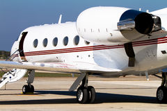 Private Jet. Parked on the tarmac stock photography