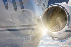 Private Jet Abstract with Sunburst Royalty Free Stock Photo