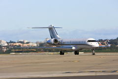 Private jet airliner on tarmac Royalty Free Stock Photography