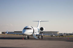 Private Jet. On airport ramp stock photography