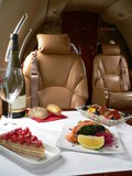 Private jet catering Royalty Free Stock Photo