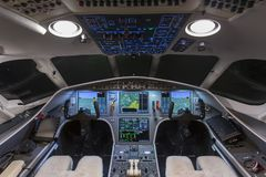 Private jet cockpit Stock Photos