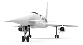 The private jet. 3d generated picture of a white private jet Royalty Free Stock Photography