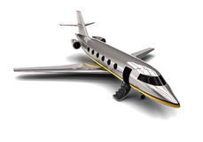 Private jet. 3D render image representing a Private Jet Stock Photos