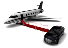 Private jet. 3D render image representing a private jet Royalty Free Stock Image