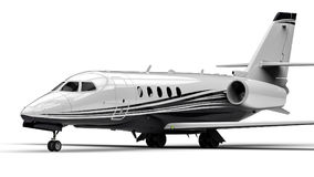 Private jet. 3D render image representing an private jet Royalty Free Stock Photo