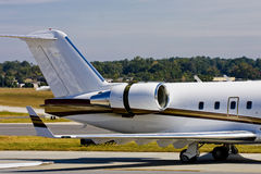 Private Jet Engine and Tail Royalty Free Stock Image