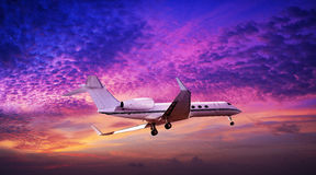 Private jet in flight Stock Photos