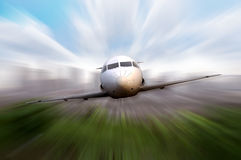 Private Jet Flying Stock Image