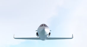 Private jet - front view Royalty Free Stock Images