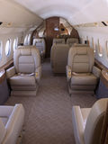 Private jet. Interior view of a private jet Royalty Free Stock Photography