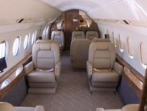 Private jet. Interior view of a private jet royalty free stock photos