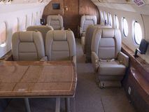 Private jet. Interior view of a private jet Stock Photos