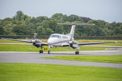 Private jet landing Royalty Free Stock Image