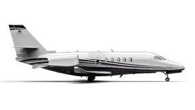 Private Jet Plane. 3D render image representing an private jet Royalty Free Stock Photos