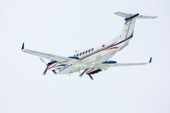 Private jet plane taking off. Turboprop private jet plane taking off Stock Photos