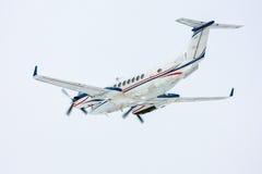 Private jet plane taking off. Turboprop private jet plane taking off stock photos