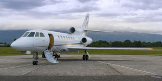 Private Jet ready to Board Stock Photo