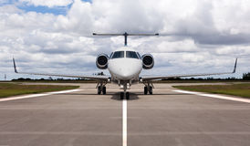 Private jet on the runway. Ready for take off Stock Photography