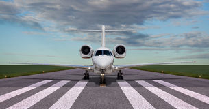 Private jet on the runway. Ready for take off Royalty Free Stock Photography