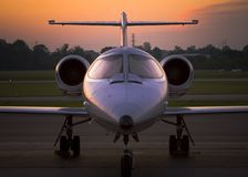 Private Jet at Sunrise 3. A private jet at sunrise in Indiana for the Kentucky Derby across the river royalty free stock images