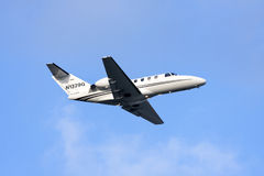Private jet on take off Stock Photo