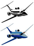 Private jet, vector illustration Stock Photo