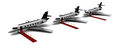 Private jets Stock Photos