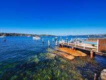 Private Jetties, Watsons Bay, Sydney Harbour, Australia stock photo