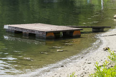 Private Jetty. Private and small Jetty on the lake in Roznow , Poland. Europe Stock Images