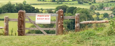 Private Keep Out sign in the Cotswolds in Gloucestershire stock image