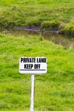 Private land Keep off in farmland Cheshire UK Stock Photos