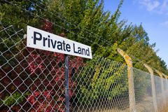 Private Land Notice Stock Photos