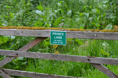 Private land sign. Royalty Free Stock Photography