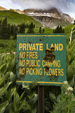 Private Land Signage Royalty Free Stock Images