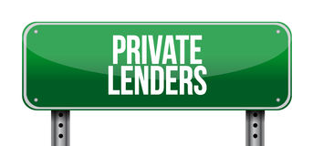 Private lenders street road sign concept Royalty Free Stock Photos