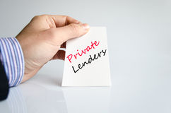 Private lenders text concept Stock Photo
