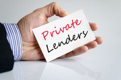 Private lenders text concept Royalty Free Stock Image