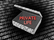 Private Life in a Digital Box Stock Photo