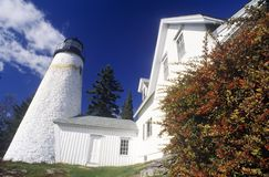 Private lighthouse in Castine, ME Royalty Free Stock Photography