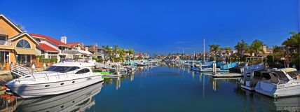 Private luxury harbor stock images