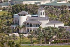 Private luxury villa in Dubai stock photo