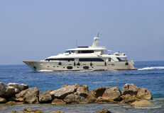 Private luxury yacht Royalty Free Stock Photo