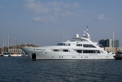 Private luxury yacht Royalty Free Stock Photography