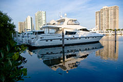 Private Marina. Scene in Aventura, Florida stock photos