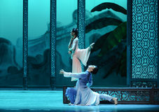Private meeting in the back garden-The second act of dance drama-Shawan events of the past. Guangdong Shawan Town is the hometown of ballet music, the past Stock Image
